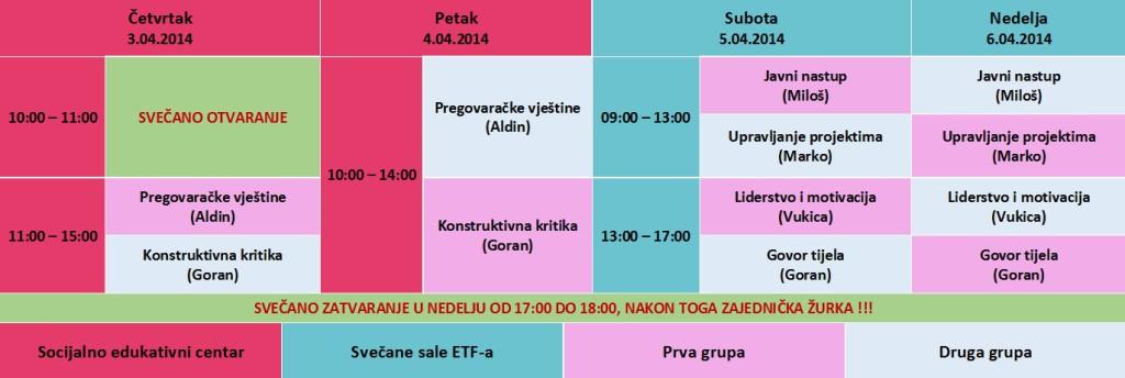 Raspored za SSA 2014